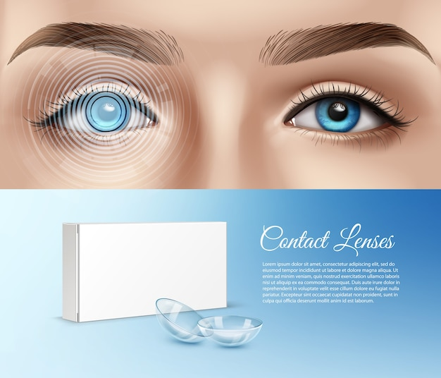 Illustration of human eye awith graphical interface Premium Vector