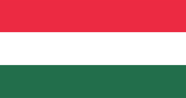 Illustration of hungary flag Free Vector