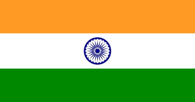 Illustration of india flag Free Vector