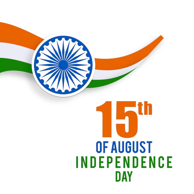 Illustration for indian independence day Free Vector