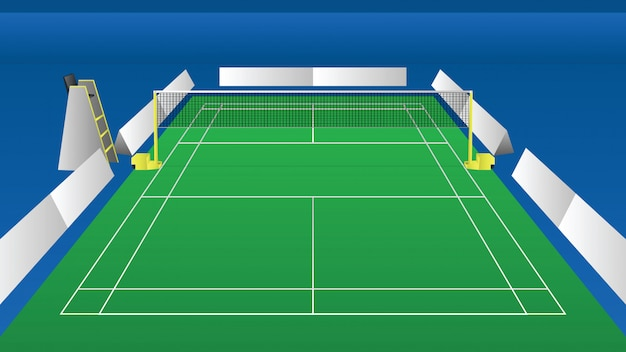 Illustration of an indoor arena for badminton perspective ...