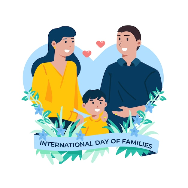 Illustration of international day of families Free Vector