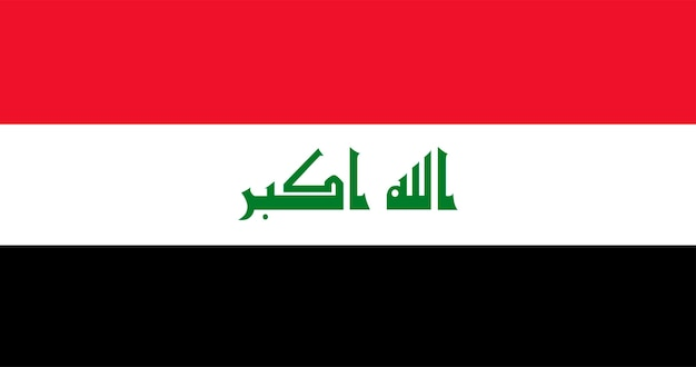 Illustration of iraq flag Free Vector