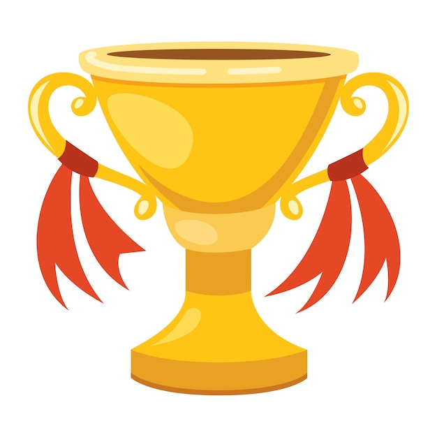 Illustration of an isolated golden cup Premium Vector