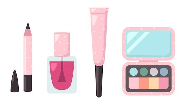 Illustration of isolated set cosmetics Premium Vector