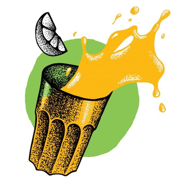 Illustrazione del bicchiere di juce Vettore gratuito