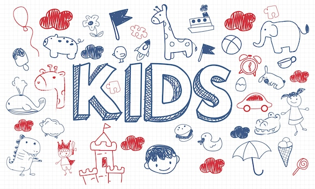 Illustration of kids concept Free Vector