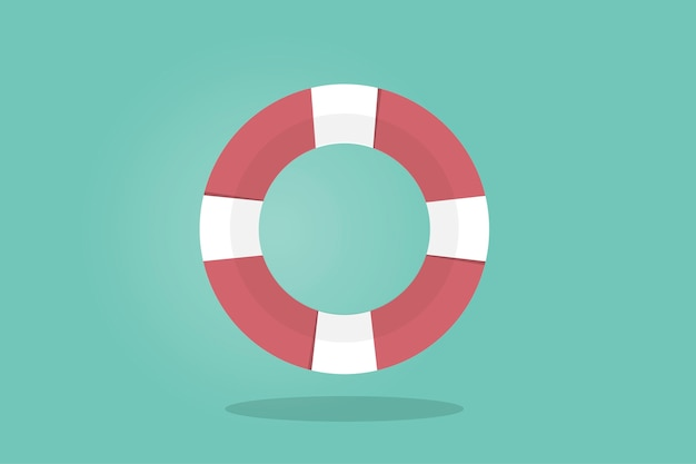 Illustration of a life buoy Free Vector