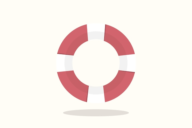 Illustration of life buoy Free Vector