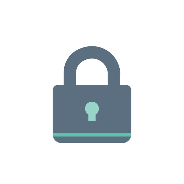 Illustration of lock icon Free Vector
