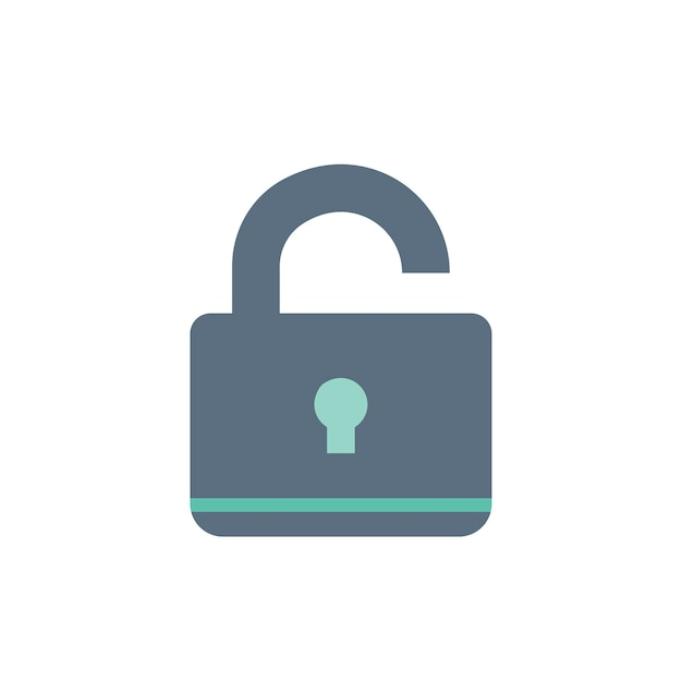 Illustration of lock icon Free Vector