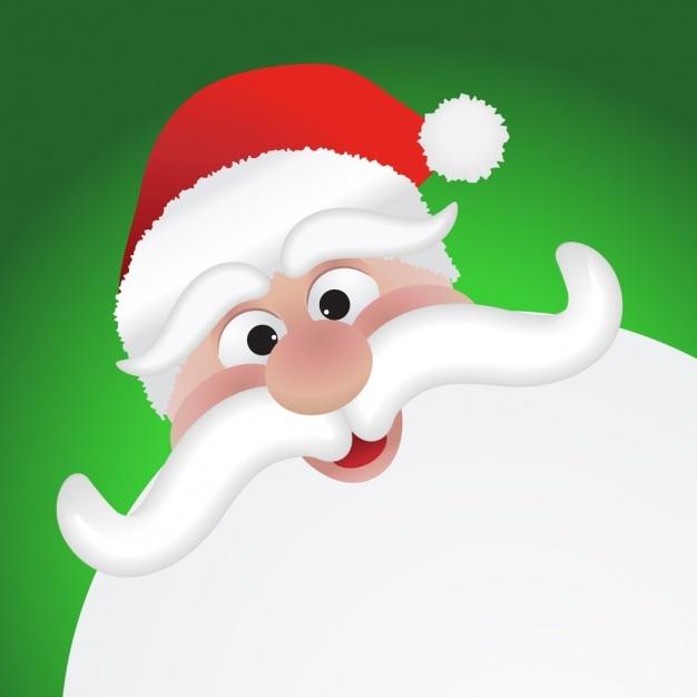 Illustration of lovely santa Free Vector