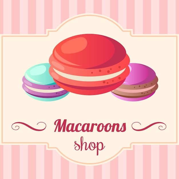 Illustration of macaroons. Free Vector