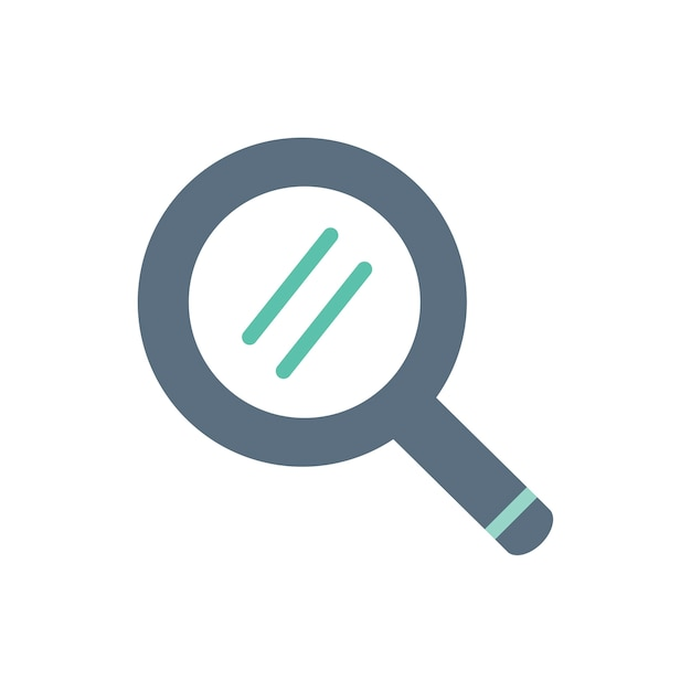 Illustration of magnifying glass icon Free Vector