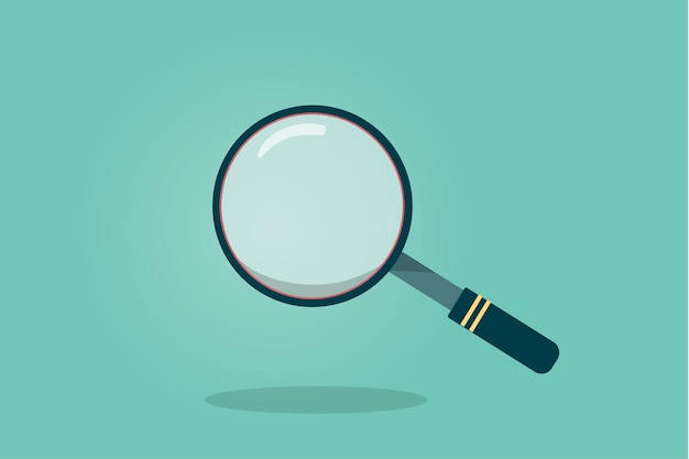 Illustration of a magnifying glass Free Vector