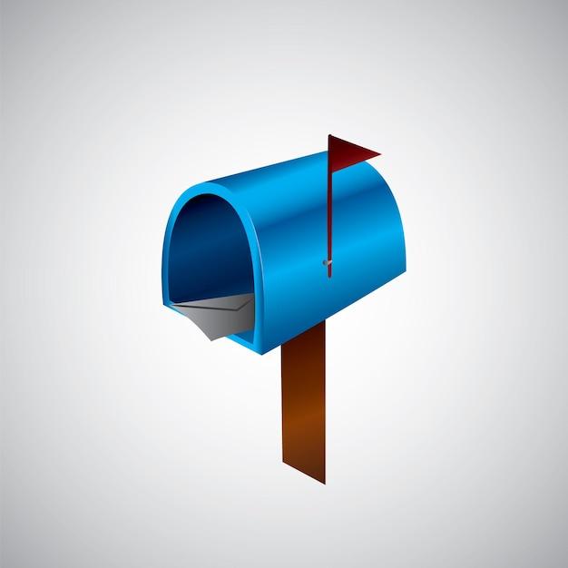イラストメールアイコン。メールボックスのイラスト Premiumベクター