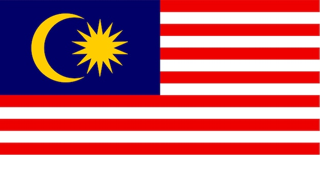Illustration of malaysia flag Free Vector