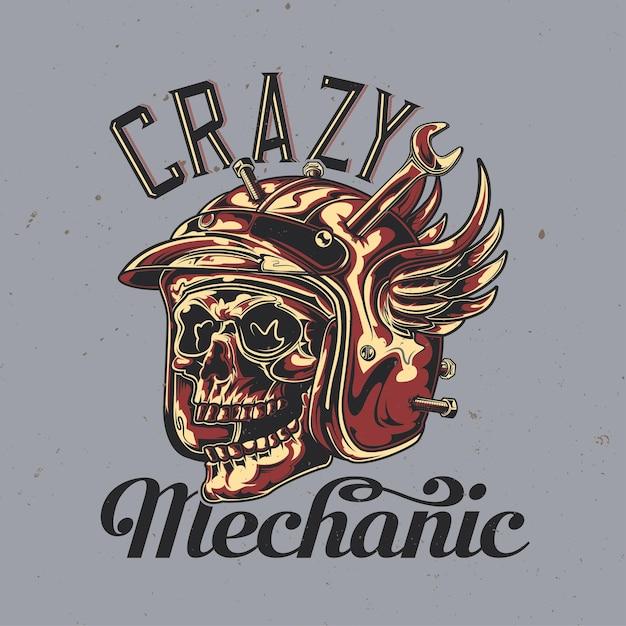 Download Logo Balap Motor Crazy Mechanic