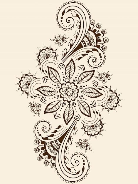 Illustration of mehndi ornament Free Vector