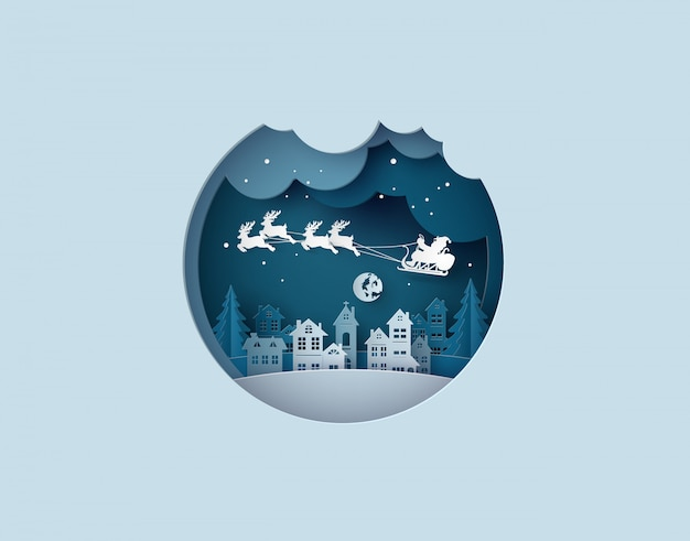 Illustration of  merry christmas and happy new year Premium Vector
