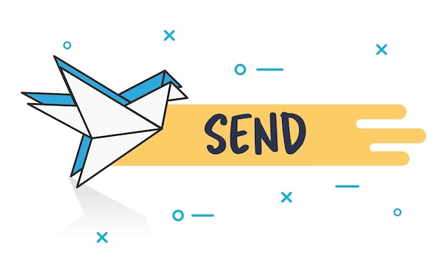 Illustration of message concept Free Vector