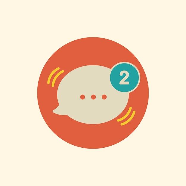 Illustration of message speech bubble icon Free Vector