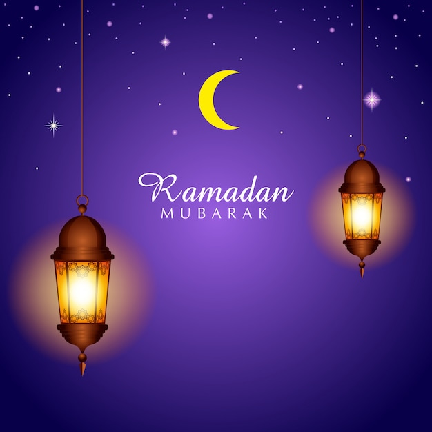 Illustration for month of ramadan Premium Vector