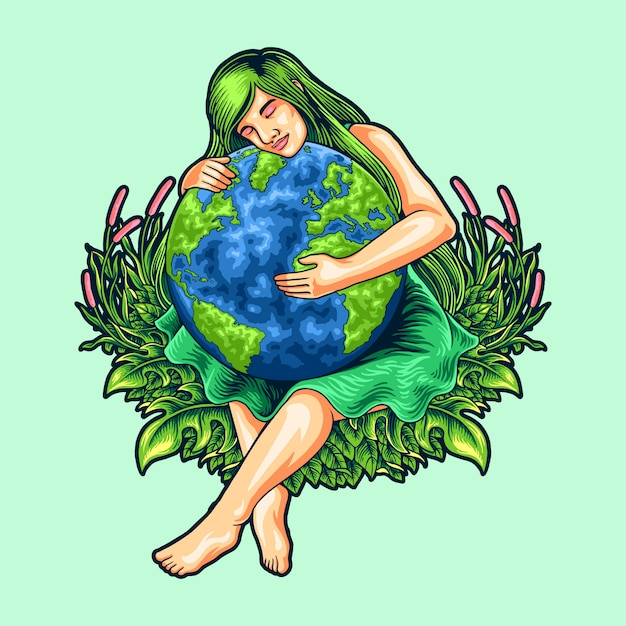 Illustration of mother earth day Premium Vector