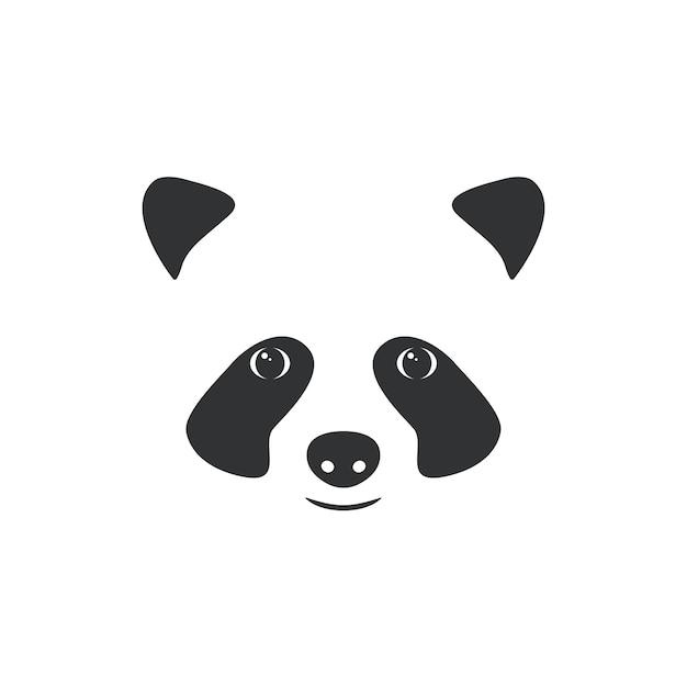 Illustration muzzle little panda. Premium Vector