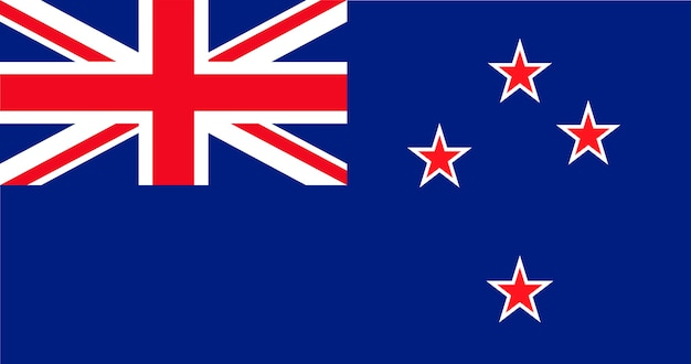 Illustration of new zealand flag Free Vector