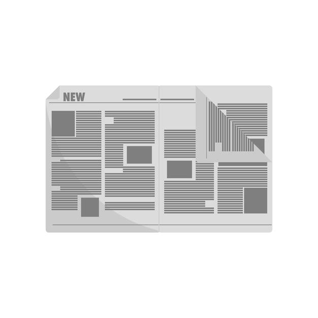Illustration of newspaper Free Vector