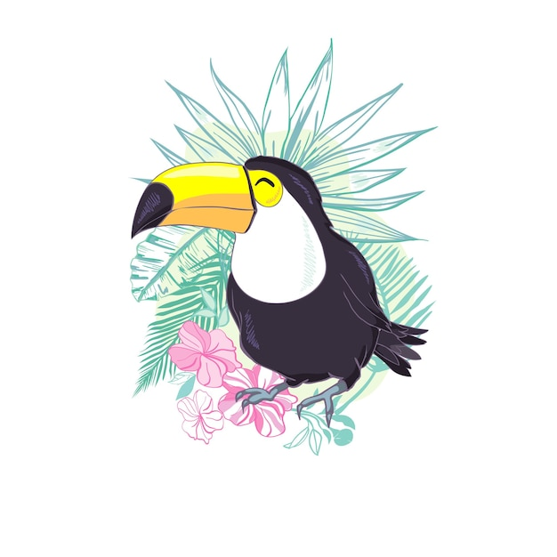 An illustration of a nice toucan. Premium Vector