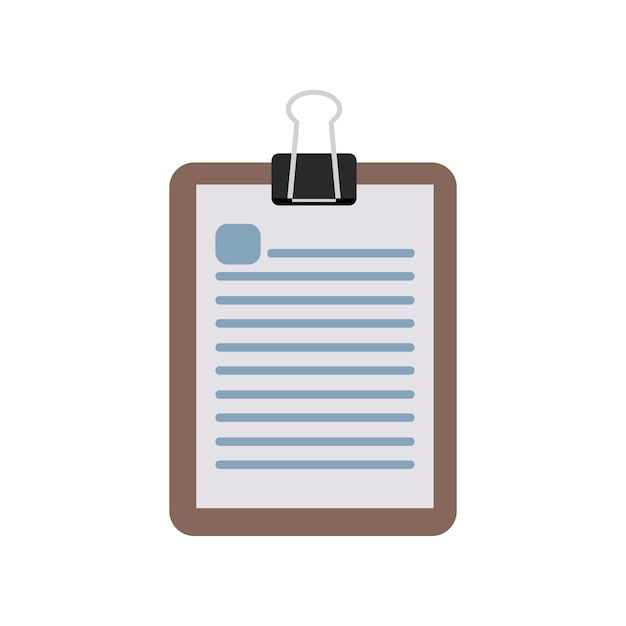 Illustration of notepad Free Vector