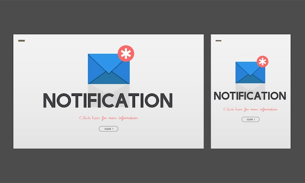 Illustration of notification message Free Vector