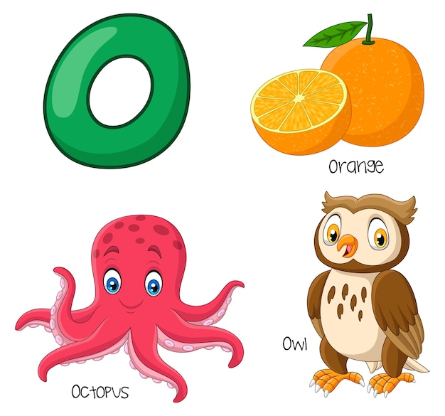 Illustration of o alphabet Premium Vector