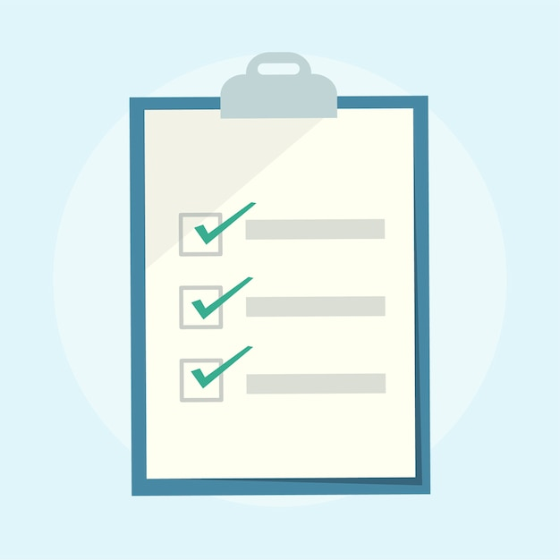 Illustration of a checklist clipboard Free Vector
