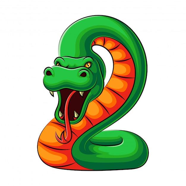 コブラヘビのイラスト Premiumベクター
