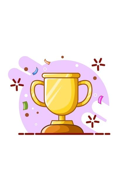 Иллюстрация трофея Premium векторы