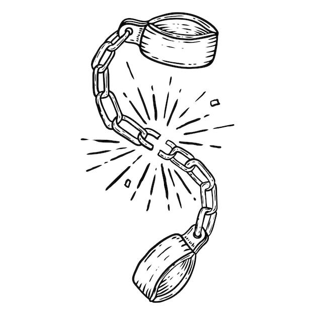 Иллюстрация сломанной сережки на белом фоне. элемент для плаката, карты, футболки. образ Premium векторы