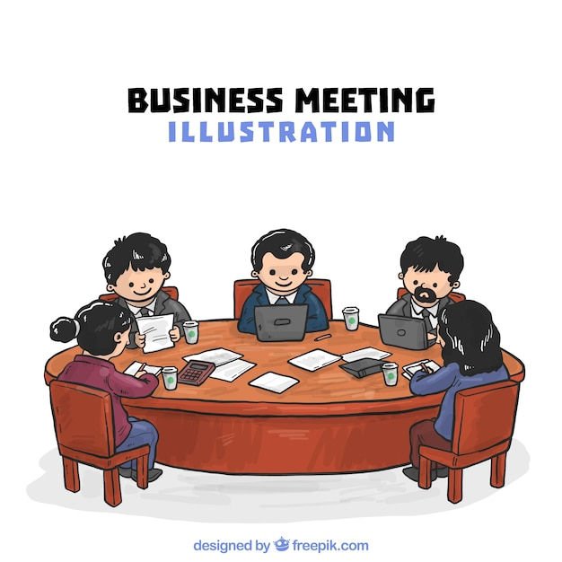 Illustration of business meeting