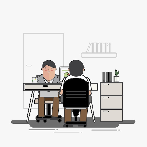Illustration of business people avatar