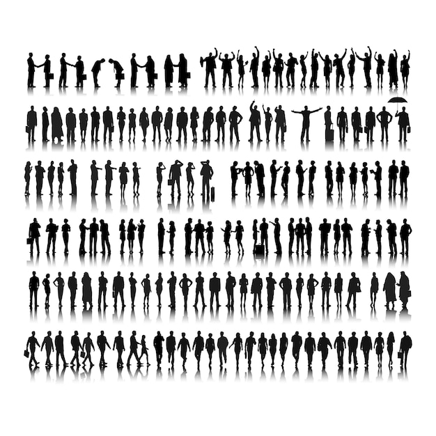 Иллюстрация деловых людей Бесплатные векторы