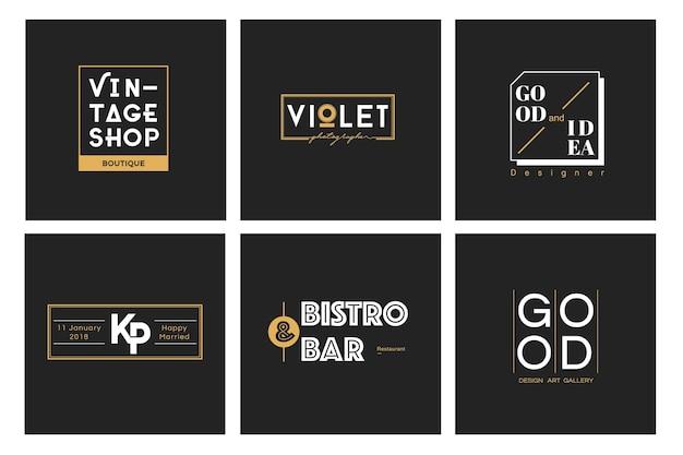 Иллюстрация бизнес-магазина логотип печать баннер Бесплатные векторы