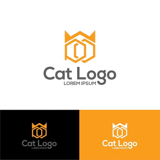 Иллюстрация логотипа cat Premium векторы