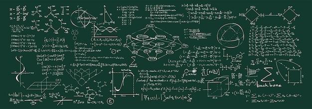 Иллюстрация химических формул Бесплатные векторы