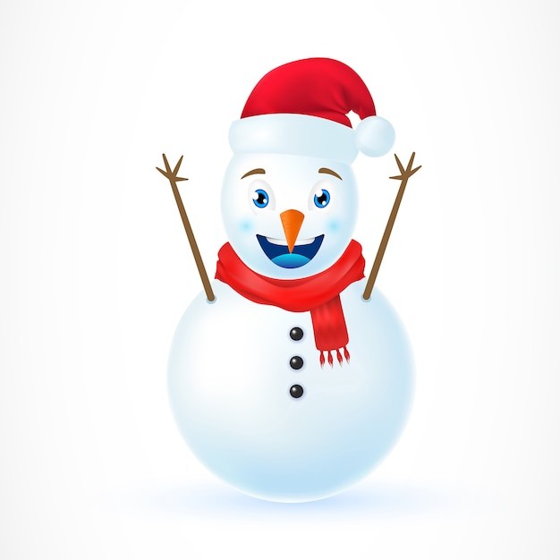 Illustration of Christmas Snowman