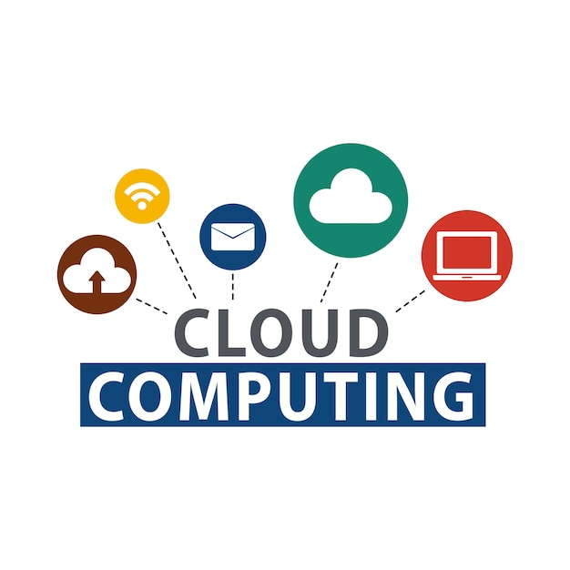 Illustration of cloud storage Free Vector
