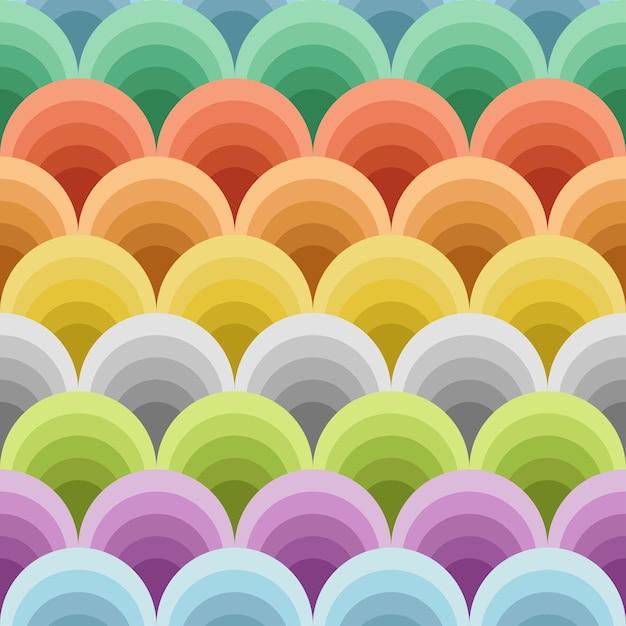 Иллюстрация цветных кругов оттенков в бесшовные модели Premium векторы