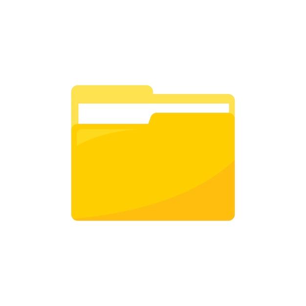 データフォルダアイコンのイラスト 無料ベクター