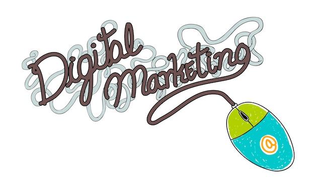 Illustration of digital marketing Free Vector